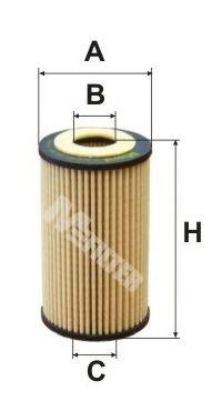 Фильтр масляный OPEL (пр-во M-filter)                                                                 арт. TE648