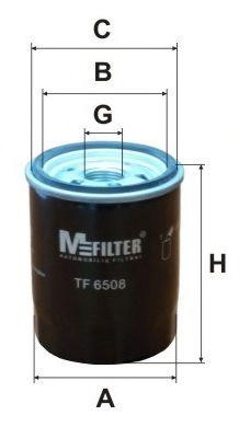 Фильтр масляный MITSUBISHI Lancer (пр-во M-filter)                                                    арт. TF6508