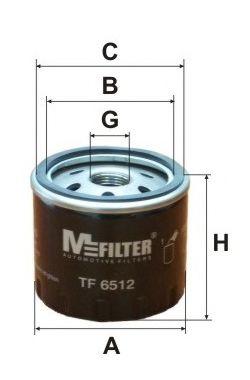 Фильтр масляный двигателя OPEL Vivaro (пр-во M-filter)                                               MFILTER арт. TF6512