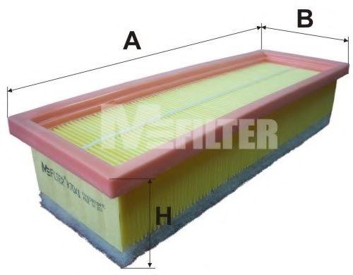 Фильтр воздушный FIAT DOBLO,PUNTO (пр-во M-Filter)                                                    арт. K7041