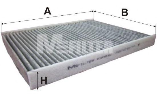 Фильтр салона  FORD (угольный) (пр-во M-Filter)                                                       арт. K9084C