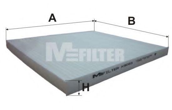 Фильтр салона HYUNDAI Acent, RIO III (пр-во M-filter)                                                 арт. K9093