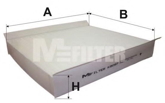 Фильтр салона CITROEN; FIAT; OPEL; PEUGEOT (пр-во M-Filter)                                           арт. K9097