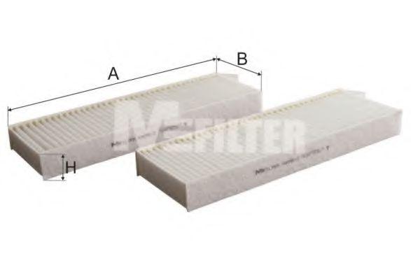 Фильтр салона CITROEN BERLINGO II, PEUGEOT PARTNER II 08- (2шт.) (пр-во M-FILTER)                    MFILTER K90562