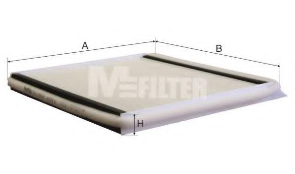Фильтр салона CITROEN Xantia  / Berlingo (пр-во M-filter)                                            MFILTER K911