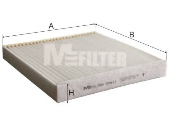 Фильтр салона (пр-во M-FILTER)                                                                       MFILTER K9111
