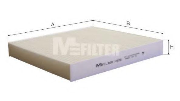 Фильтр салона NISSAN ALMERA (1-й сорт)(пр-во M-filter)                                               MFILTER арт. K926