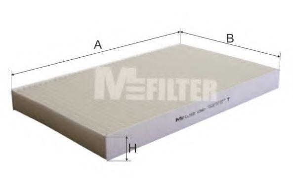 Фильтр салона AUDI A6 (пр-во M-filter)                                                               MFILTER K940
