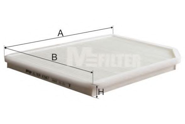 Фильтр салона RENAULT Laguna (пр-во M-filter)                                                        MFILTER арт. K947