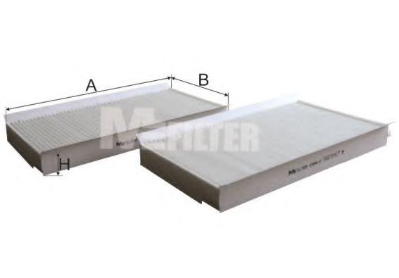 Фильтр салона BMW 5 (2шт.) (пр-во M-Filter)                                                          MFILTER K9942