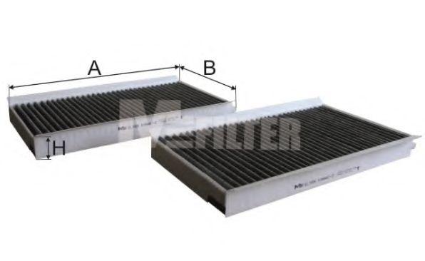 Фильтр салона BMW 5 угольный (2шт.) (пр-во M-FILTER)                                                 MFILTER K994C2