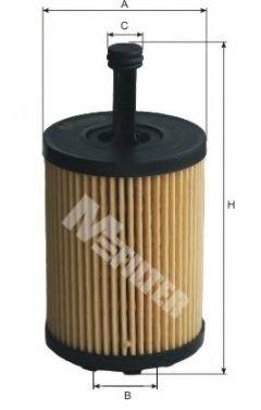Фильтр масляный FABIA, GOLF (пр-во M-Filter)                                                         BOSCH арт. TE621