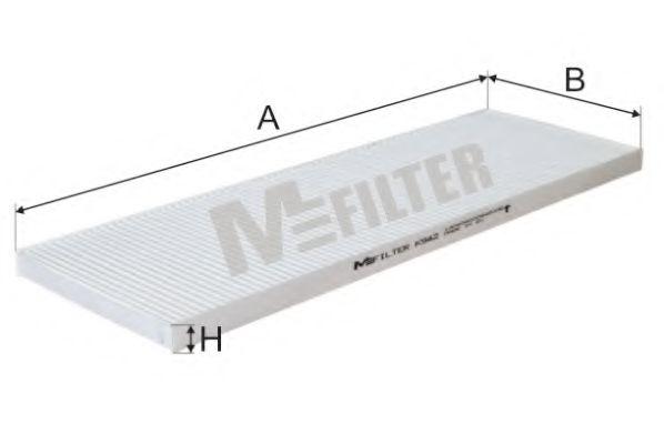 Фильтр салона CITROEN JUMPER (пр-во M-filter)                                                        MFILTER K942