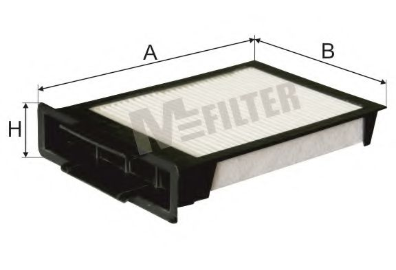 Фильтр салона CITROEN C1, PEUGEOT 107, TOYOTA (пр-во M-Filter)                                       MFILTER K9013