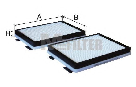 Фильтр салона BMW (2шт.) (пр-во M-Filter)                                                            MFILTER K9052