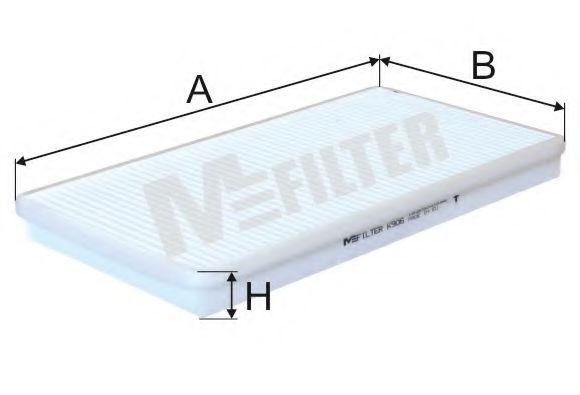 Фільтр салону BMW 318 I E 36 (вир-во M-filter) MFILTER арт. K906