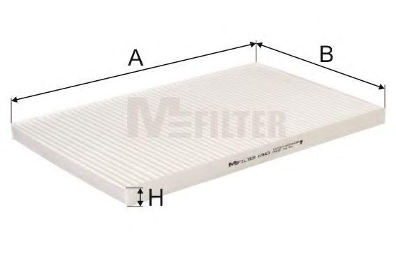 Фильтр салона AUDI A6 (пр-во M-filter)                                                               MFILTER K943