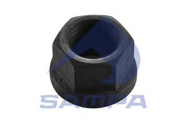 Гайка крепления колеса Гайка М20х1,5/h=21/ ключ-27/ качество: 10/ с юбкой SAMPA арт. 020457