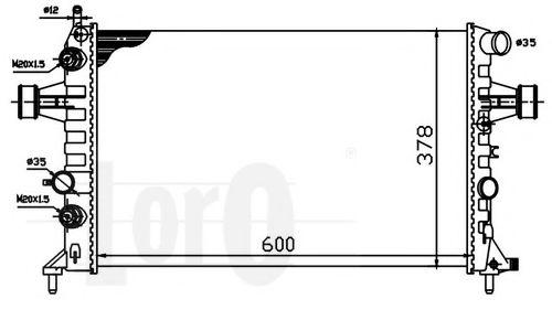 Радиатор O. Astra G 1.4/2,2  (АКПП/+/-AC) 98>04 LORO 0370170032
