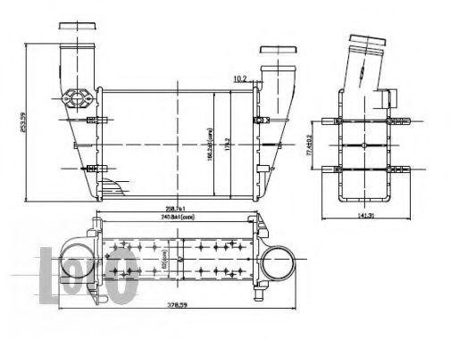 Интеркулер Теплообменник DEPO арт. 0030180001