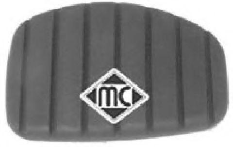 Педали, накладки на педали Накладка на педаль гальма Renault Clio II, Kangoo 1997- Megane I  1.9dTi 2001- METALCAUCHO арт. 04717