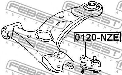 Шаровая опора переднего нижнего рычага FEBEST 0120NZE