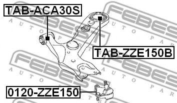 Шаровая опора переднего нижнего рычага FEBEST 0120ZZE150