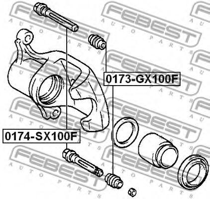 Пыльник втулки направляющей суппорта передн. TOYOTA LAND CRUISER 100 HDJ101/UZJ100 (пр-во FEBEST) в интернет магазине www.partlider.com