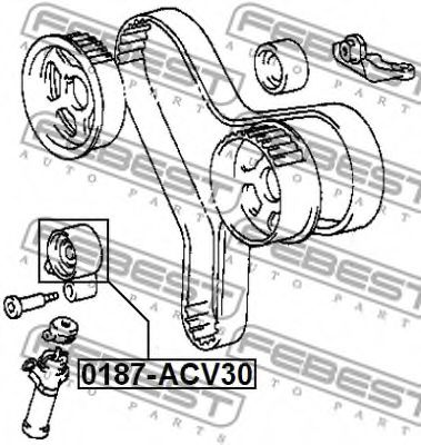Натяжной ролик, ремень ГРМ FEBEST арт. 0187ACV30