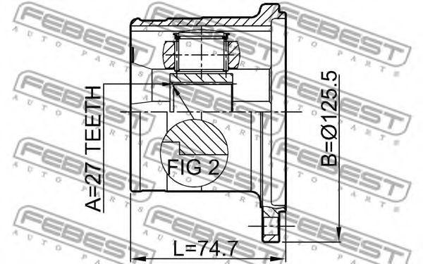 ШРУС ВНУТРЕННИЙ 27X126 INFINITI M35/45 (Y50) 2004-  арт. 0211WD21
