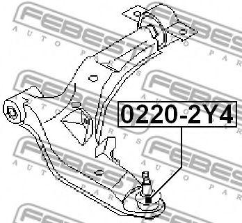 Шаровая опора переднего нижнего рычага FEBEST 02202Y4