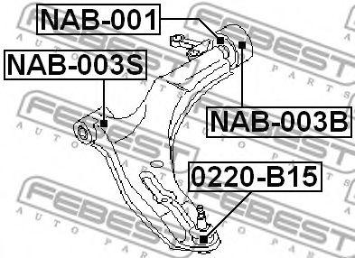 Шаровая опора переднего нижнего рычага FEBEST 0220B15