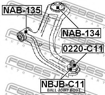 Шаровая опора переднего нижнего рычага FEBEST 0220C11
