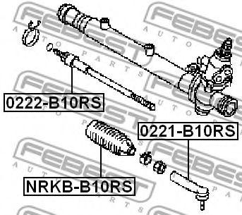 Рулевая тяга FEBEST 0222B10RS