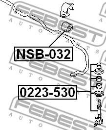 Тяга стабилизатора  арт. 0223530