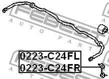 Тяга стабилизатора переднего левая  арт. 0223C24FL