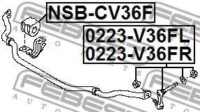 Стойка стабилизатора передняя                                                                         арт. 0223V36FR