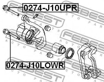 Втулка направляющая суппорта задн. NISSAN X-TRAIL T31 2007-2013 (пр-во FEBEST)                        арт. 0274J10LOWR