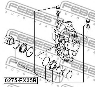 Ремкомплект суппорта задн. NISSAN MURANO Z50 2002-2007 (пр-во FEBEST)                                 арт. 0275FX35R