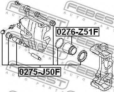 Ремкомплект суппорта передн. NISSAN G35/37/25 SEDAN V36 2006-2015 (пр-во FEBEST)                      арт. 0275J50F