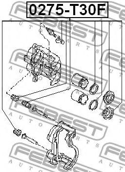 Ремкомплект суппорта передн. NISSAN X-TRAIL T30 2000-2006 (пр-во FEBEST)                              арт. 0275T30F