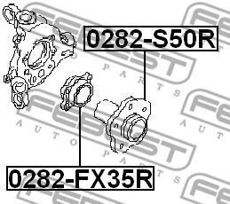Подшипник ступицы колеса задний к-кт. INFINITI FX45/35 (S50) 2002-2008  арт. 0282FX35R