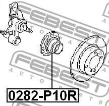 Подшипник ступицы колеса задний NISSAN PRIMERA P10 1990-1996  арт. 0282P10R