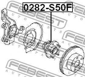 Маточина колеса  арт. 0282S50F