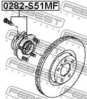 Подшипник ступицы колеса, передний INFINITI M35/45 (Y50) 2004-  арт. 0282S51MF