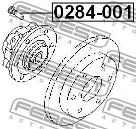 Шпилька колеса  арт. 0284001