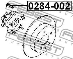 Шпилька колеса  арт. 0284002