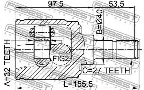 ШРУС внутренний с пыльником HONDA  (пр-во FEBEST)                                                     арт. 0311CRVMTRH