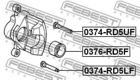 Втулка направляющая суппорта передн. HONDA ACCORD CL 2002-2008 (пр-во FEBEST)                         арт. 0374RD5LF