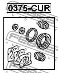 Ремкомплект супорта (ущільнювачі 4016995790)  арт. 0375CUR